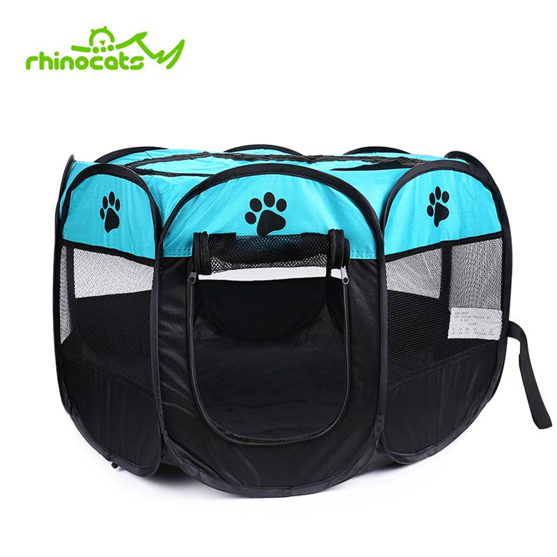 Cat Tent House For Pet Dog Cage Outdoor Kennel Nest Park Fence Playpen Perch Shelf for Puppy Kitten Small Medium Dogs Pet Supply