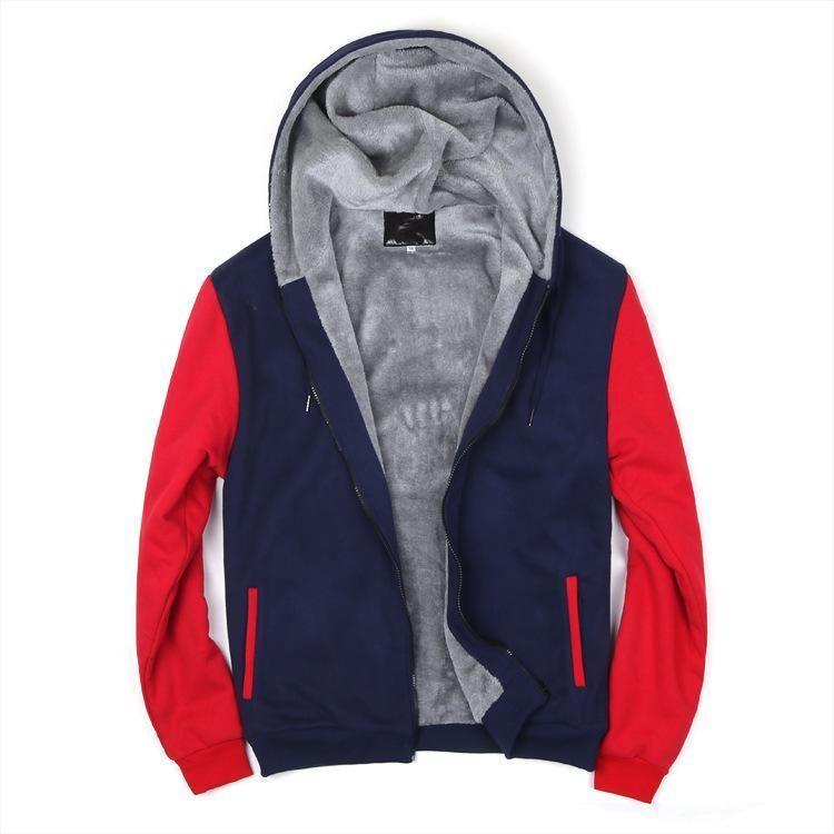 2020 New Men Hoodies Winter Thick Warm Fleece Zipper Men Hoodies Coat Sportwear Male Streetwear Hoodies Sweatshirts Men T200917