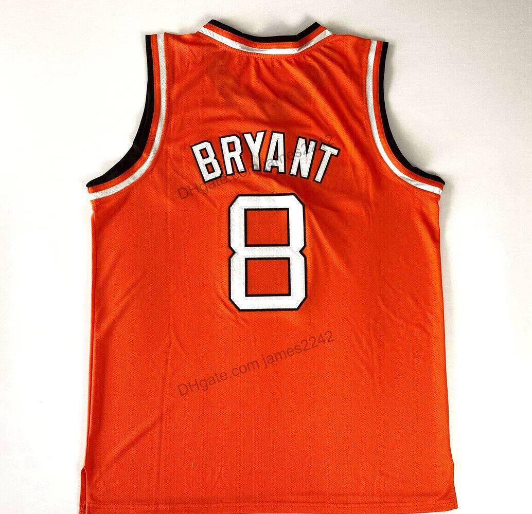 Billig benutzerdefinierte Rucker Bryant # 8 Entertainer Basketball Jersey Alle genähten Orange Jeder Name Nummer 2xs-3XL Top Qualität
