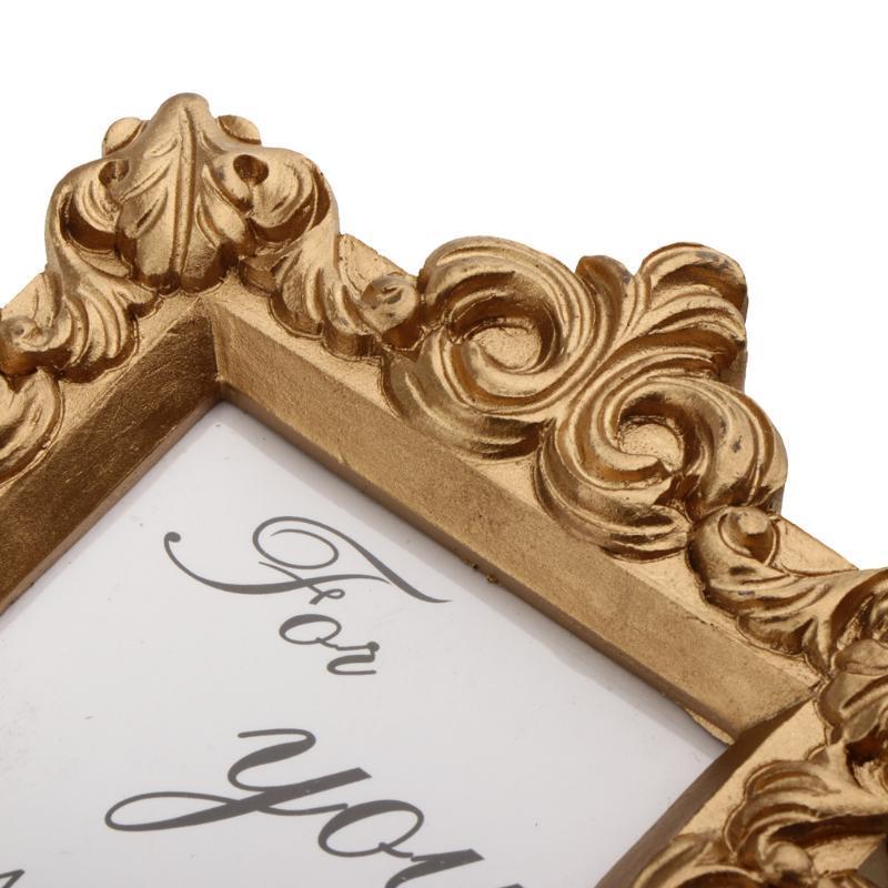 Vintage oro Photo Frame Table Impostazioni Matrimonio Compleanno Accessori -9 x 10cm