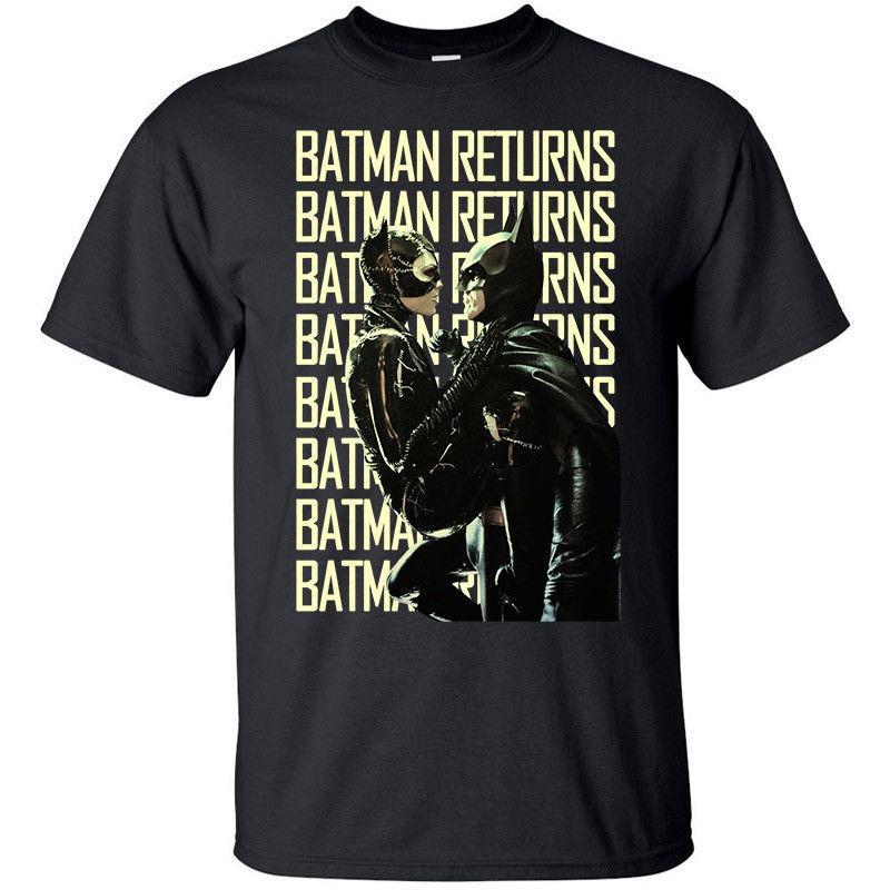 Batman Returns V4, Movie Poster (1992) T-shirt 2019 nuova estate di modo di stile coreano manica corta T-shirt
