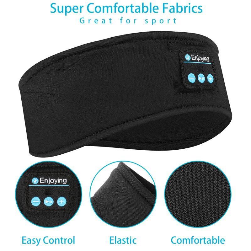 Drahtlose Bluetooth Musik-Stirnband Rennen Sport Elastic Schweißband Stirnband Schlafen Kopfbedeckung Kopfhörer Lautsprecher Headset