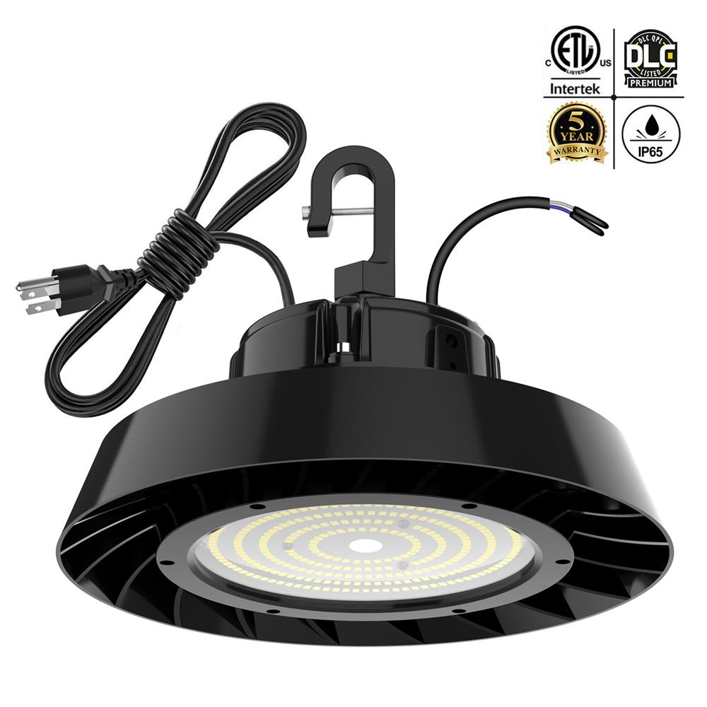 LED المرآب ضوء UFO LED Highbay Light 150W 200W 240W 5000K 1-10V عكس الضوء لمحجر المستودع المرآب