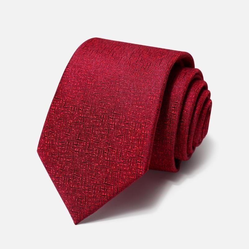 Yüksek Kaliteli 2020 Tasarımcı Yeni Moda Şarap Kırmızısı Güzel Hediye Kutusu ile Erkekler Fermuar Kravat İş Örgün Suit 8cmTies ekose