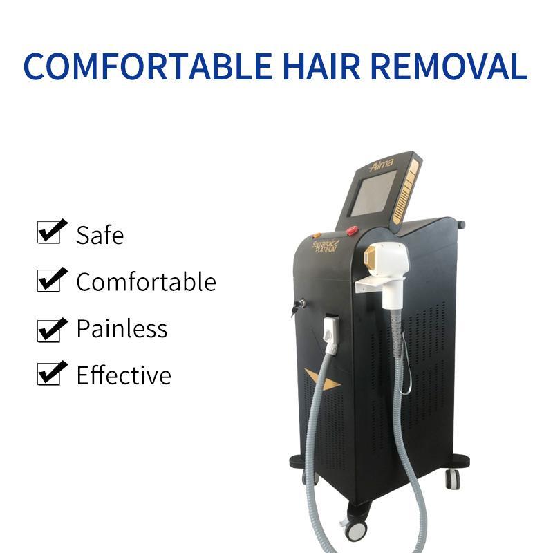 Лучшие продажи машина лазерного удаления волос Нового диод с длиной волна 808nm три + 755nm + 1064 безболезненных быстрым удалением волос с заводской ценой