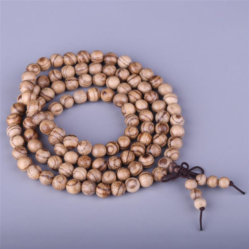 Wholesale 10pcs Natural Sour Branch Sandalwood Vietnam fragrant-wood Beaded Bracelet Sandalwood 108 Prayer Mala Festival Gift