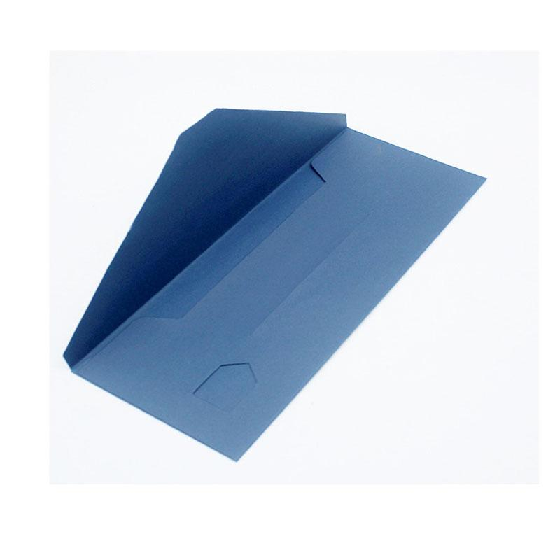 Simple bleu Enveloppe Sac en papier avec fenêtre Visual PVC pour Tie écharpe Afficher détail Boîte Emballage cadeau