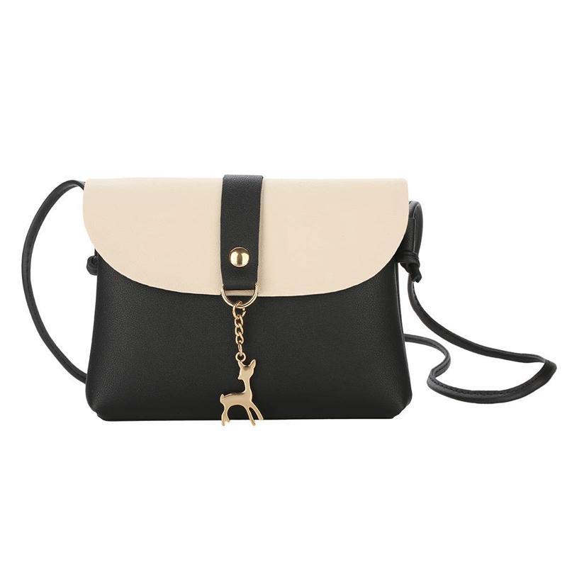 LJL-Small Crossbody borsa per le donne con il pendente, sacchetto di cuoio dell'unità di elaborazione del sacchetto di Crossbody con cinturino telefono cellulare per la ragazza