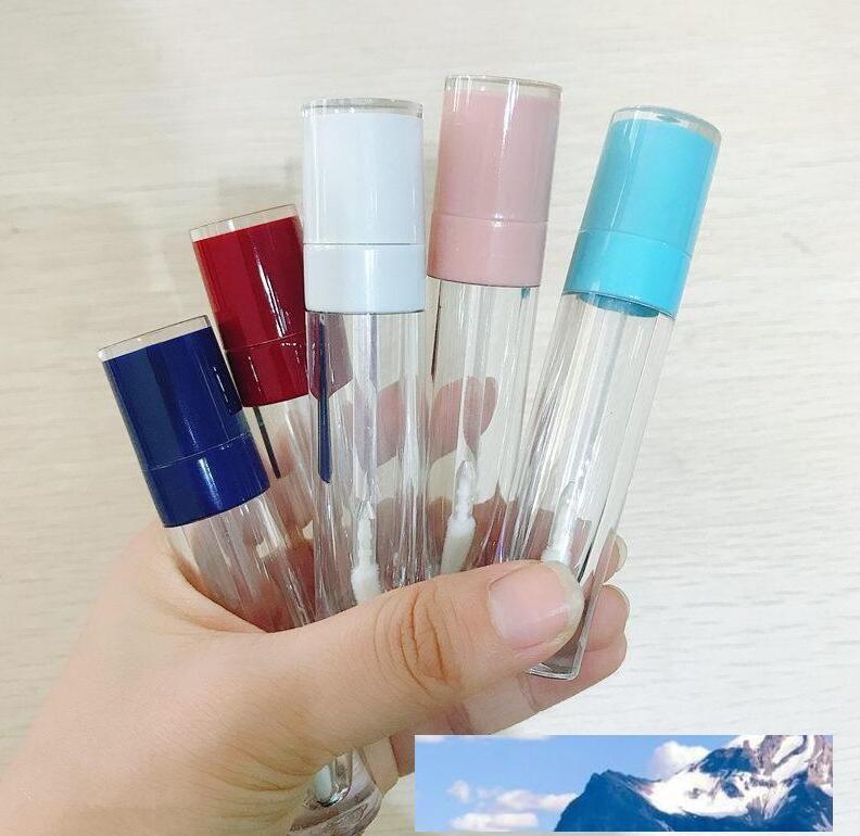 립 글로스 라운드 튜브 DIY 립스틱 컨테이너 리필 유리 병 SampleMakeup 액세서리 빠른 배송 병 비우기 8 ML