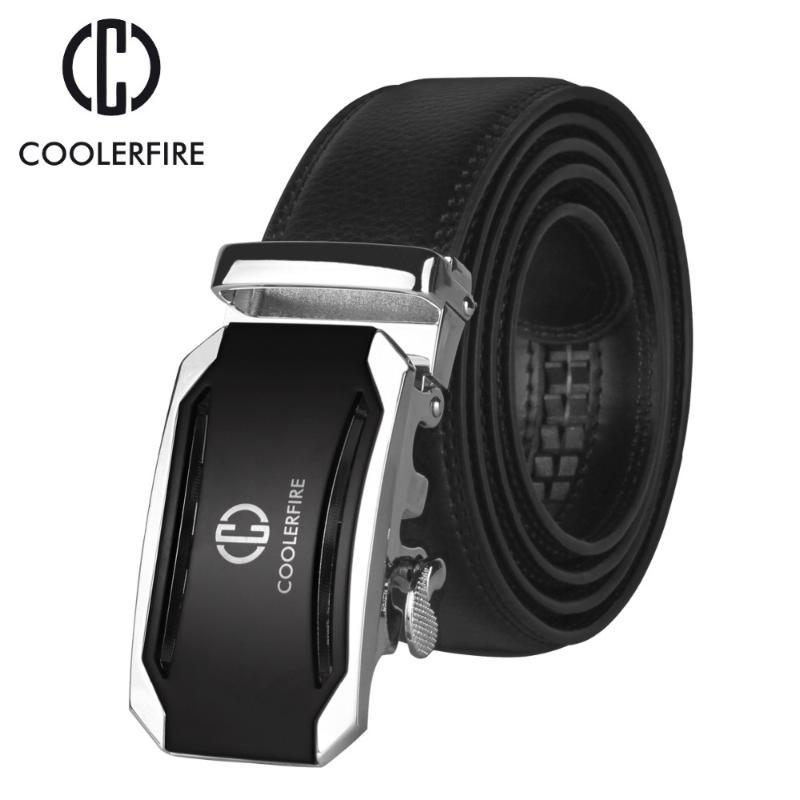 Cintura Coolerfire Uomo Top Quality Maschio ZD053belt Cinture Automatic Metal Fibbia in pelle Genuine per uomo, cinturino PAGPC di lusso