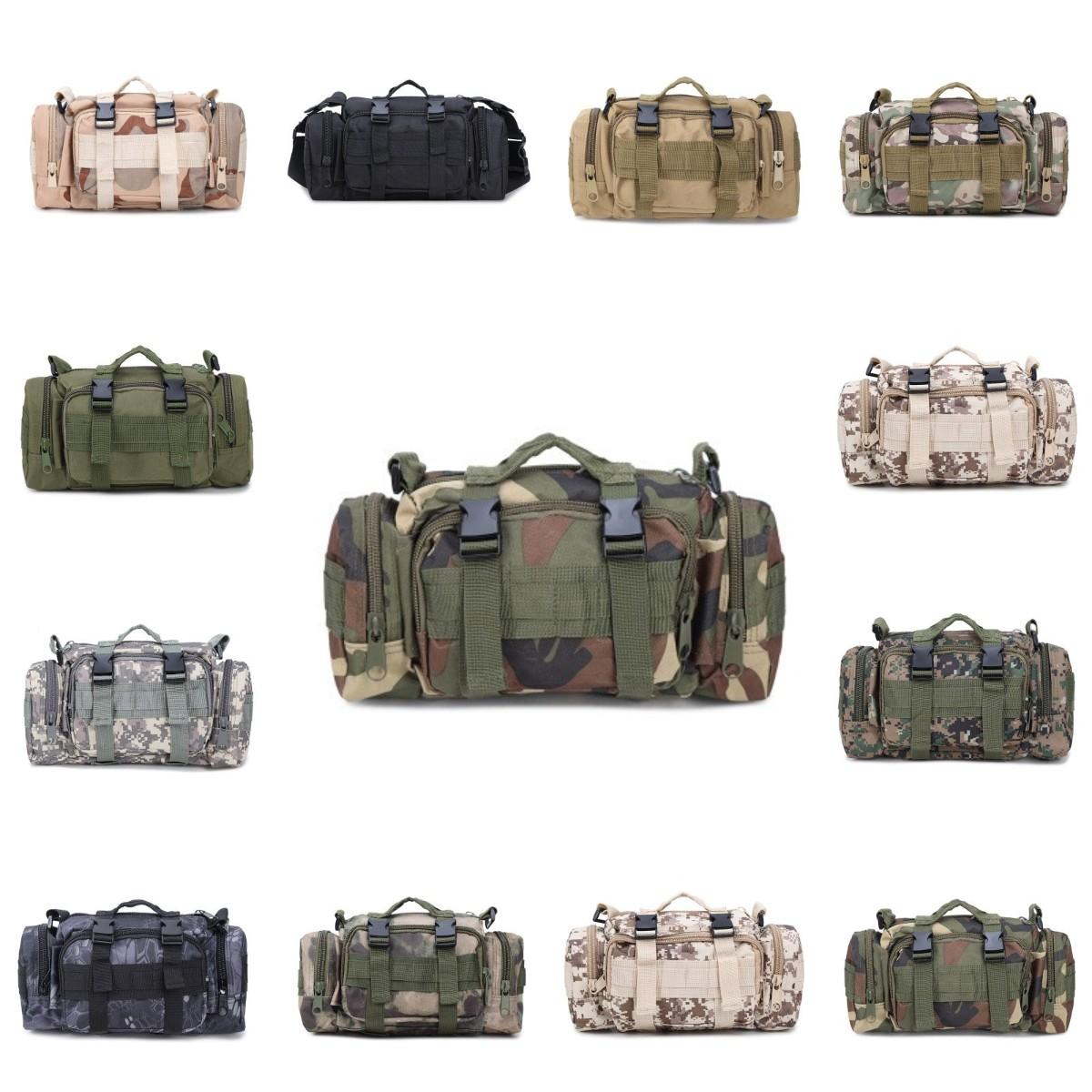 Камо Тактические сумка водонепроницаемый Military талии пакет Molle Открытый сумка для кемпинга Походные Прочный рюкзак для путешествий Спортивные сумки CYZ2762 50Pcs