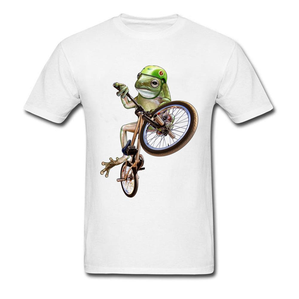 Manica corta FROG BMX COLORE VERSIONE 100% degli uomini del cotone delle parti superiori della camicia Pazzo Lovers Giorno Top T-shirt oversize girocollo tee shirt