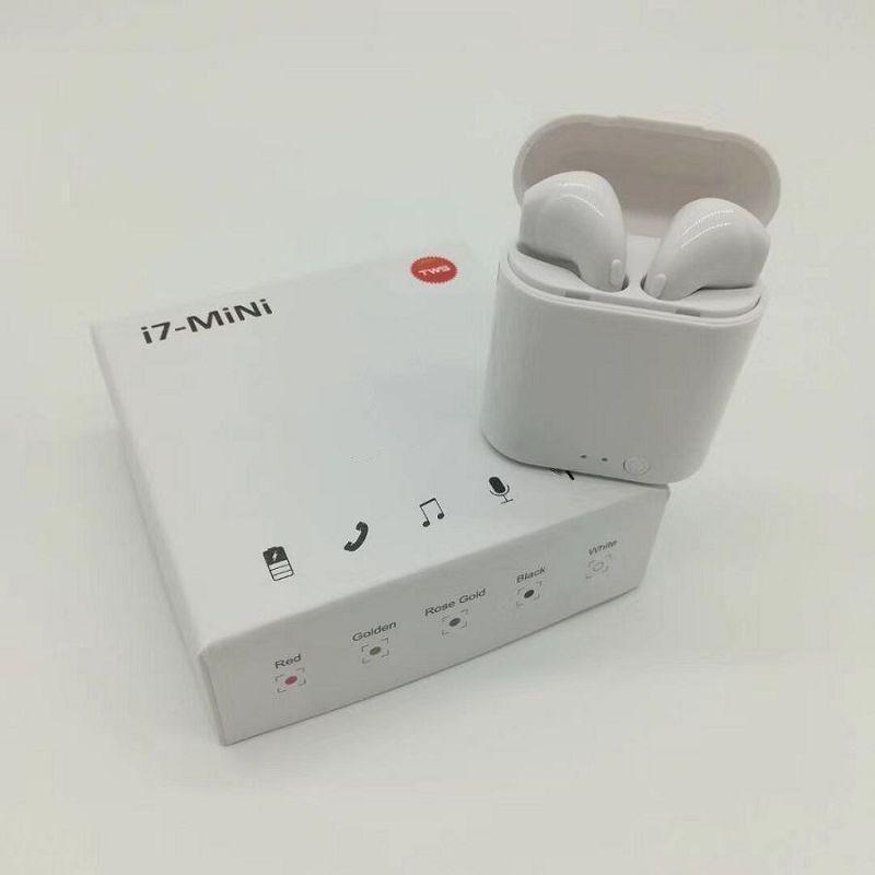 i7 Mini TWS sem fio Fone de ouvido Bluetooth Duplo Earbuds com carregador doca Stereo Headphone iPhone Para Xs 8 7 Plus S9 Além disso Android