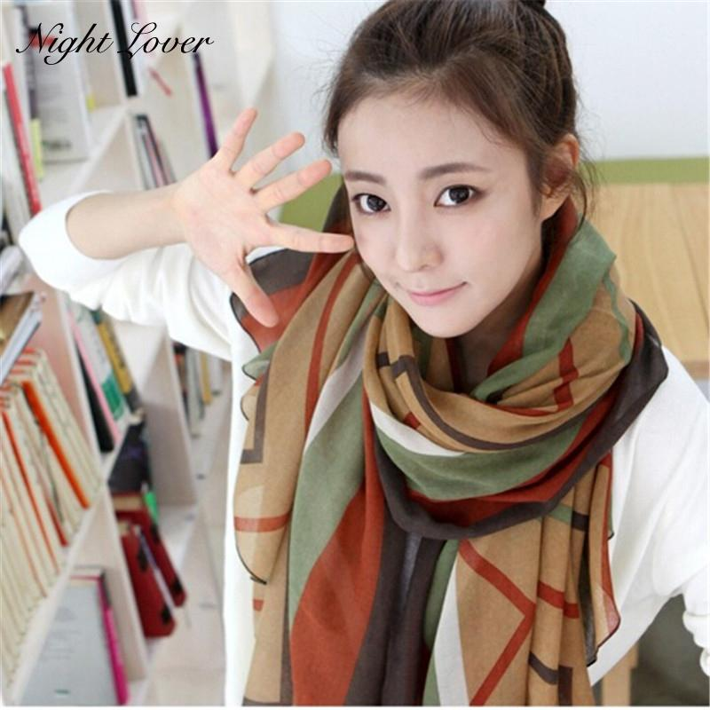 High Quality Warm Long Soft Cotton voile Scarves Shawl Wrap Cozy Scarf For Woman Girl 170 cm*80 cm