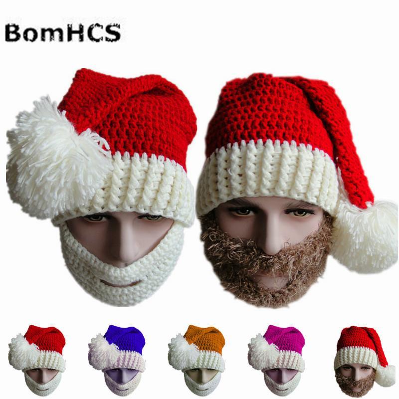 Cálido BomHCS invierno de la gorrita tejida hecha a mano de punto de ganchillo cráneo de la Navidad Regalo de Navidad de camionero 100%