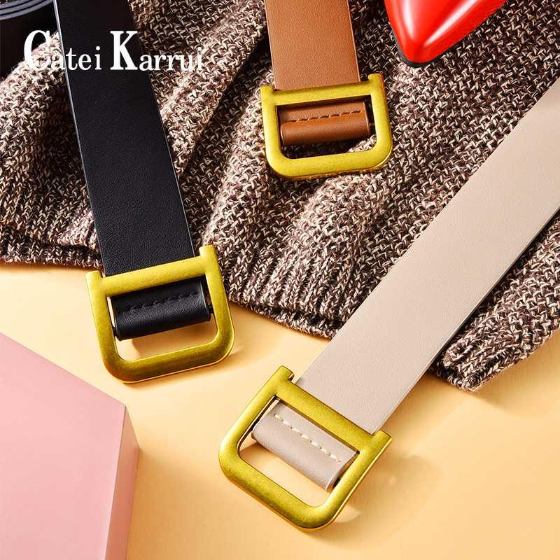 Catei Karrui Square Buckle Women Belt belts for women Simple Vintage Students Waistband Adjust Fashion Casual belt
