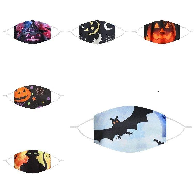 HOT 120PCS Halloween masque respirant lavable et réutilisable et antipoussière dessin animé masque masque conception d'impression drôle 6style T500225