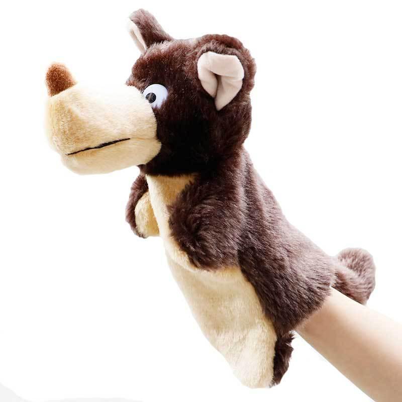 Hayvan Peluş El Puppets Çocukluk Çocuklar Sevimli Yumuşak Oyuncak Fil Aslan Maymun Şekli Hikayesi Bebekler Hediye İçin Çocuklar oynamak gibi davranmak