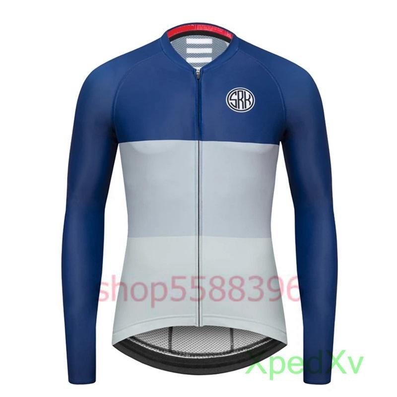 Top Brand SRK команды гонки одежда 2020 Новый стиль Джерси задействуя мужчин с длинным рукавом КОРТЕ SLIM FIT Camisola Ciclismo манга comprida