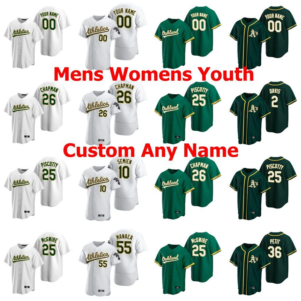 Billy Butler Jersey para mujer de Andrew Triggs Boog Powell Josh Phegley Aaron Brooks Brett Anderson Sean Murphy jersey de béisbol cosido personalizada