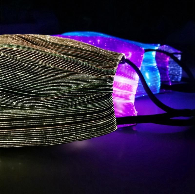 Máscara de Halloween LED Light Music Máscaras luminoso que brilla flash Cosplay del partido Máscaras de Carnaval Suministros Christams decoración EEA2025