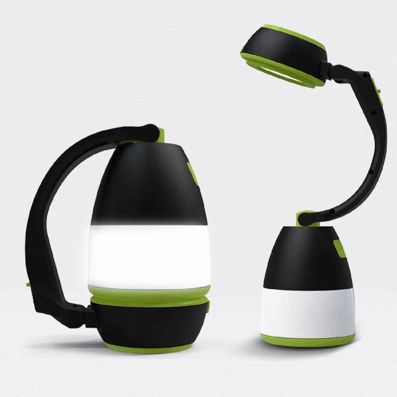 Hot recarregável LED Camping Lâmpada ao ar livre Searchlight Com 2400mAh Power Bank 3 Nível Brilho Table Desk Lamp H10M #