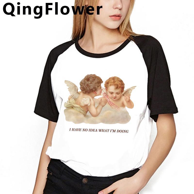 Estetica Moda Angelo Harajuku t-shirt donna Graphic Ullzang Streetwear maglietta anni '90 Grunge maglietta stile coreano T superiori femminili le donne 10