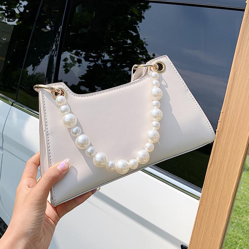 [BXX] Borse in pelle perla maniglia dell'unità di elaborazione per le donne 2020 Spring Fashion spalla Crossbody borse femminili Viaggi Croce Body Bag HM929