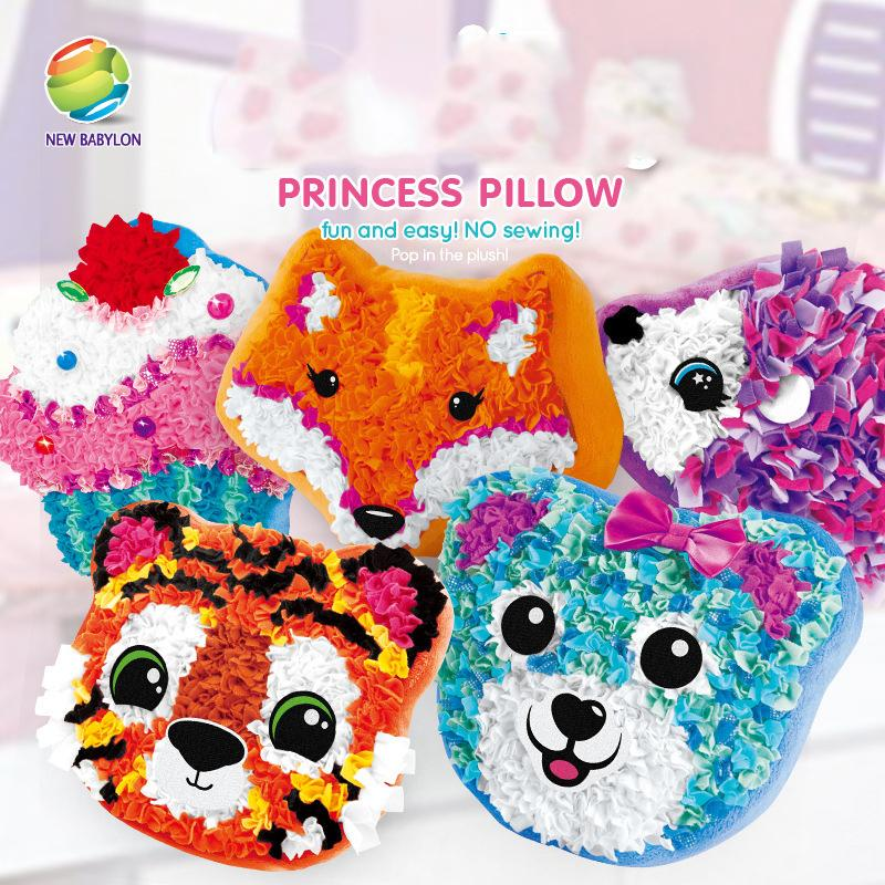 DIY Plush Pillows Made By Me Make Your Own Pillow Decorative Pillow Girls Funny 3D Pillows