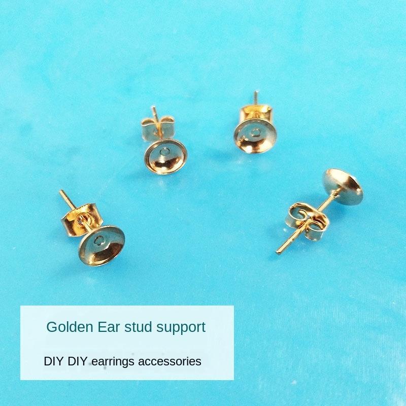 ujwkW fai da te colla di cristallo goccia a mano orecchini DIY squilla tappi per le orecchie di perle Orecchini ciotola borchie accessori Accessori accessori fatti a mano
