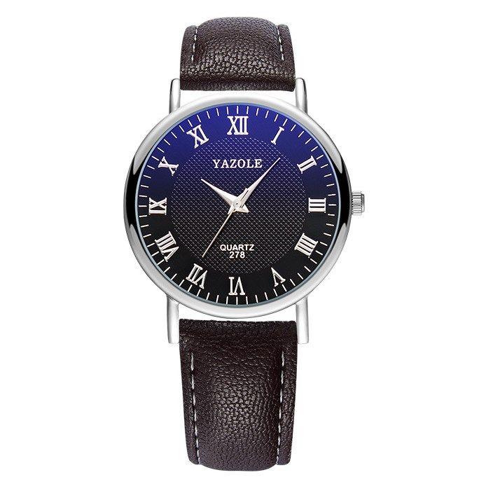Casual Watch Man L Luxury Faux Leather Mens Quartz Analog Wrist Watch Watches Man Watch Date Clock