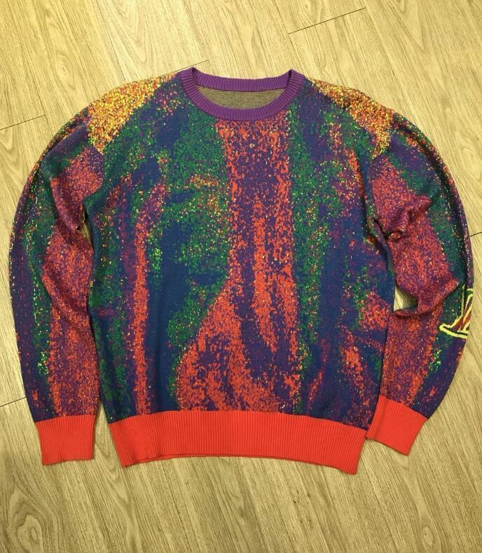 homens 20SS s blusas de designer outono e inverno Casais algodão de alta Jacquard de malha camisola de malha camisola em torno do pescoço de lã moda de qualidade