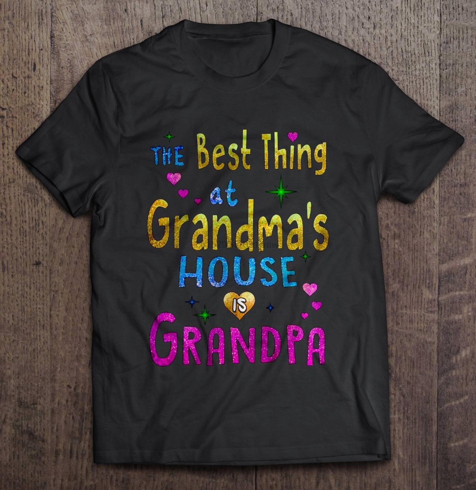 Мужчины Смешной T рубашки Мода Tshirt Лучшей вещь в бабушкином доме Is дедушка Женщина T-Shirt