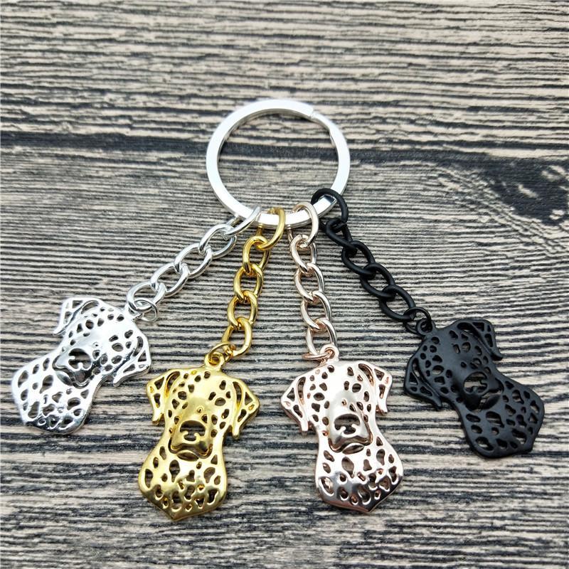 Nouveau dalmate Porte-clés Fashion Pet Dog dalmate Sac Trendy Bijoux porte-clés de voiture pour les femmes hommes Keyring