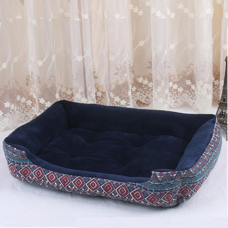 Perro Calidad WHPC cama Mat perrera del perrito caliente de la felpa suave cama nido acogedor para Pequeña Mediana Grande casa de perro Pad 4 Estaciones Dropshipping