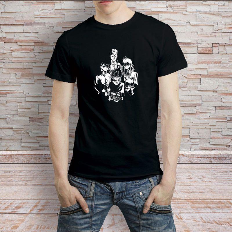 moda yeni üst tee yu yu Hakusho Retro anime çizgi film tişört erkek tişört tişörtleri tişörtleri