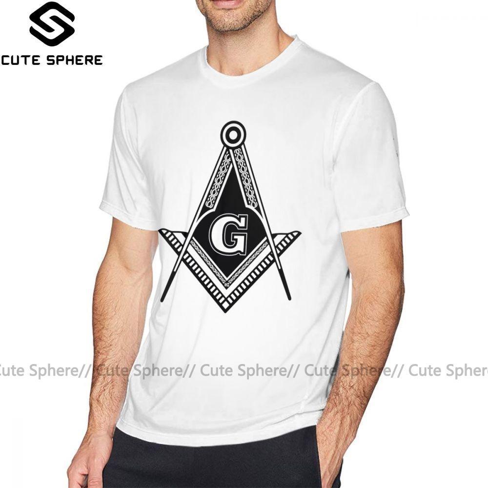 Freimaurerischen Symbole T-Shirt freimaurerischen Symbole T-Shirt-Mode-Männer-T-Shirt Lustige Printed 100 Baumwolle Kurzarm-T-Shirt Übergröße
