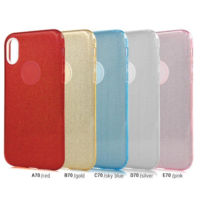 Тонкий Тонкий 3 В 1 Гибридный Luxury Sparkly Блеск Мобильный телефон Обложка для Alcatel 7 Folio MetroPCS для Lg Q7 Plus MetroPCS B