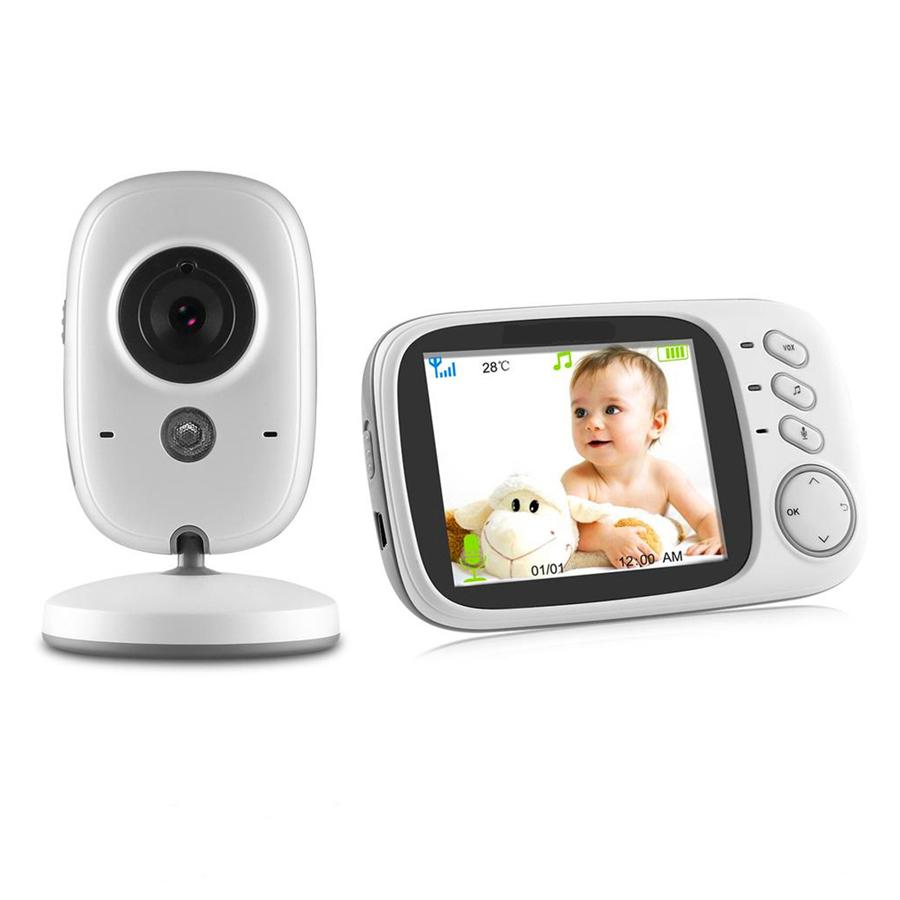 VB603 Video Baby Monitor 2.4G Wireless con 3,2 pollici LCD 2 Way Audio Park Night Vision Surveillance Security Camera Babysitter