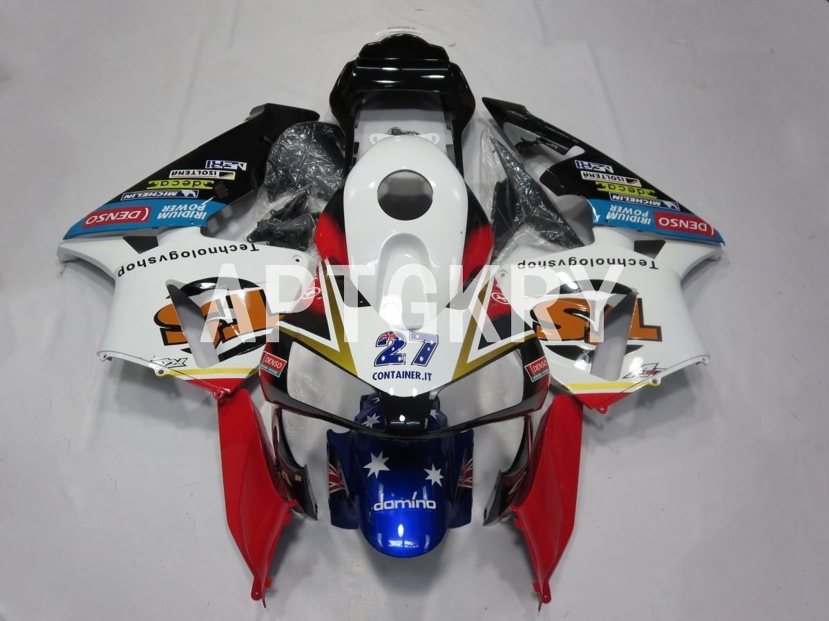 4 Presentes New ABS motocicleta carenagens kit apto para Honda CBR600RR F5 2003 2004 CBR 600RR 03 04 personalizado Branco Vermelho