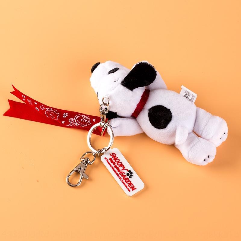 p65u5 Snoopy key chain plush doll TikTok cartoon bag gift cute female pendant schoolbag pendant female