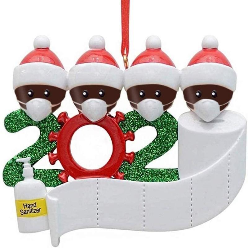 Карантин Рождество рождения партии украшение подарки продукт персонализированного семейство 2/3/4/5 Рождества орнамент социального дистанцирование OOA9672