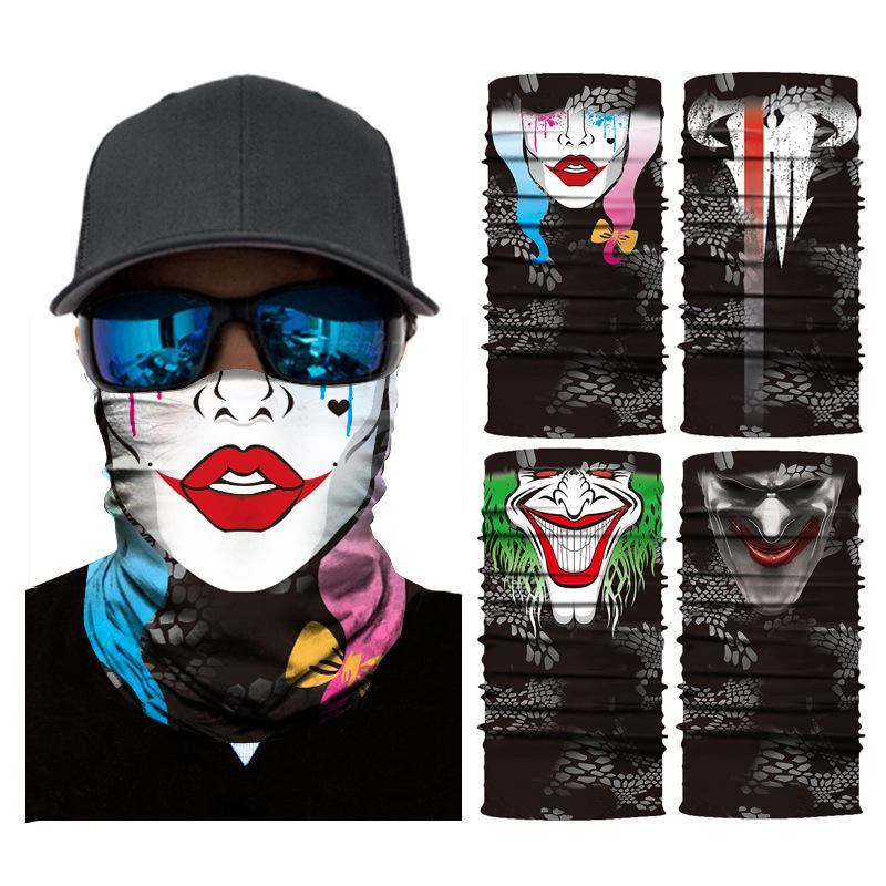 Цифровой 3D Открытого спорта Велоспорт бесшовной магия чалма череп дамба курица загар weistband фуляр маска
