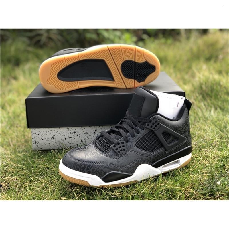 Yüksek kaliteli 4s 4 SE Siyah Sakız Laser Erkekler Basketbol Ayakkabı OG 3M Sıcak Punch Dövme Spor Sneakers CI1184-001 Boyutu 40-47 (kutu ile)