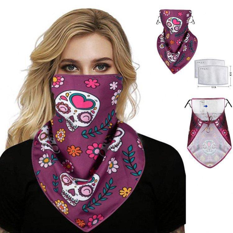 Masque Mode 8 Femmes Foulard Visage Couleur adulte extérieur antipoussière Hanging oreille crème solaire protecteur Dha160 cou Foulard Qvpm #