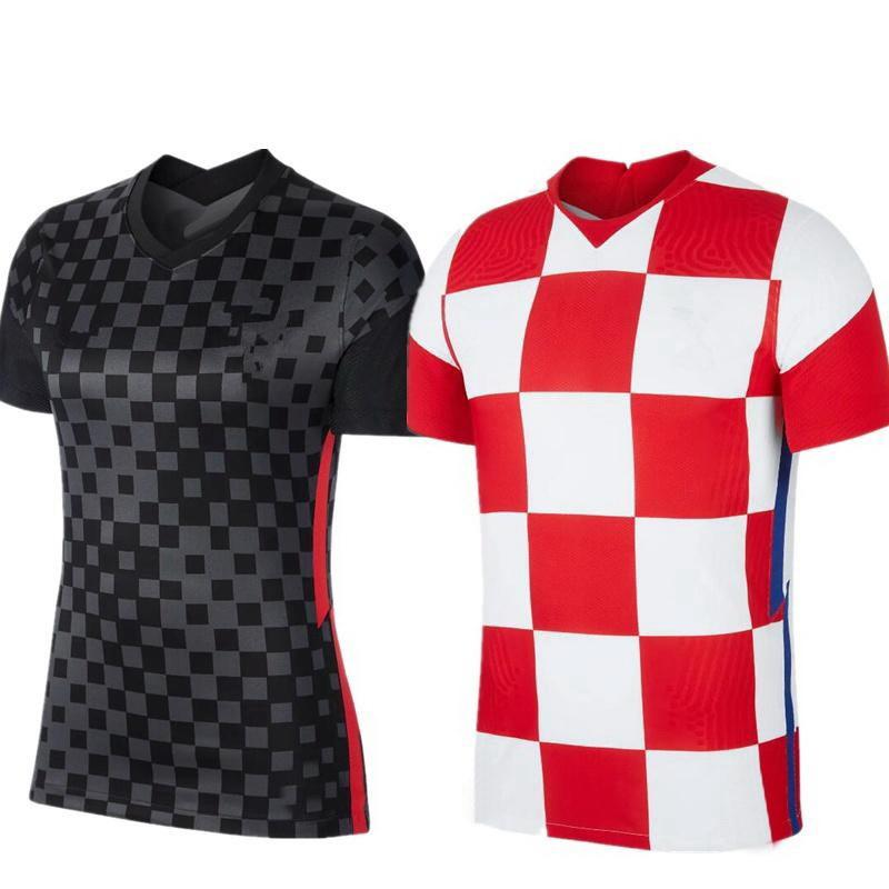 Euro 2020 Jersey 2020 Home Away 10 Modric 7 Rakitic 4 Erisic Soccer Shirt Uniforme de Futebol Gotas Aceito Yakuda Best Sports