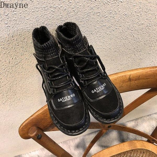 Personality Socks Schuhe Weiblich 2020 Herbst New Net Red Fashion flache Unterseite elastische Knit wilde Freizeitschuhe Gezeiten Sportschuhe Skechers Sh nim5 #