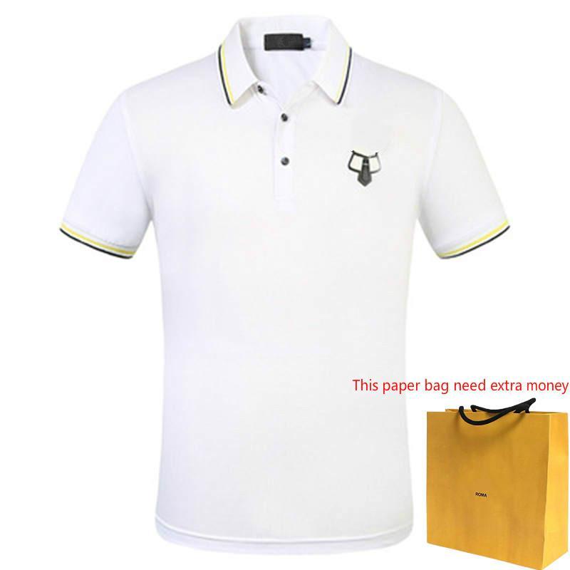 Moda para hombre camisas de polos de verano Polos para los hombres suave camiseta de rayas cuello para hombre casuales color sólido Ropa tamaño asiático M-3XL