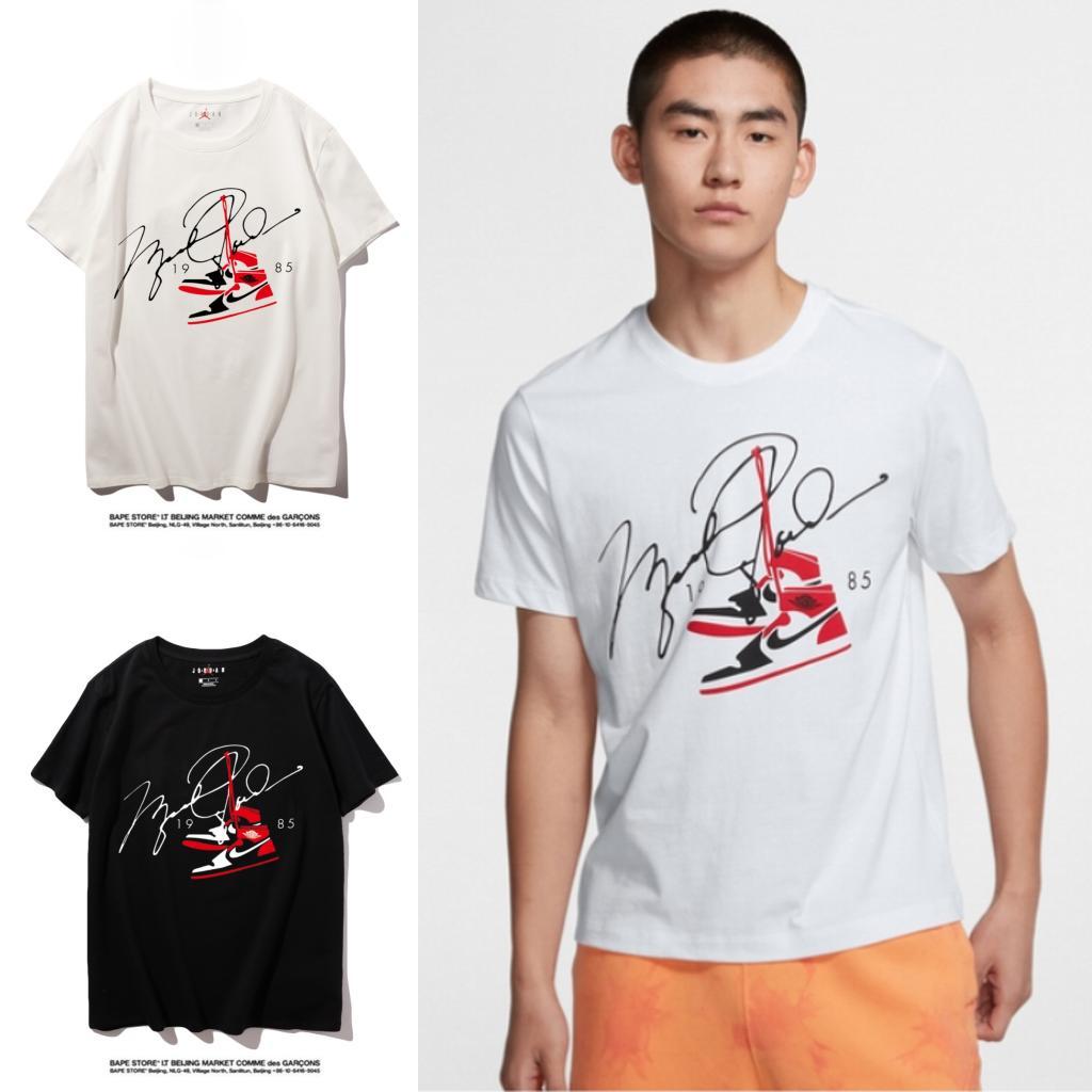Jordan Hohe Qualität Neuer Brief Printing Short Sleeve Mode Aufmaß Cotton Hip Hop-Männer Frauen Paar Designer-T-Shirt S-XXL # 11235