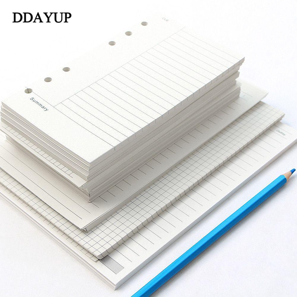 A5 A6 فضفاض ورقة دفتر الملاحظات مخطط عبوة لولبية بيندر الداخلية ل يوميات أسبوعيا شهريا لتأليف لائحة الخط دوت الشبكة داخل ورقة C0924